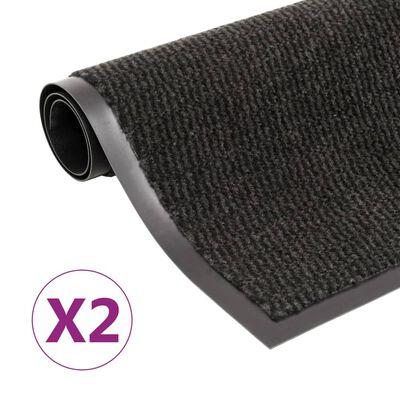 vidaXL Covoare ușă anti-praf dreptunghiular, 2 buc. negru, 120x180 cm