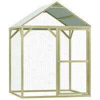 vidaXL Coteț de păsări, 1,5 x 1,5 x 2 m, lemn de pin tratat