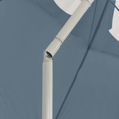 vidaXL Umbrelă de plajă, albastru, 300 cm