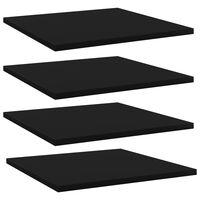 vidaXL Plăci bibliotecă, 4 buc., negru, 40 x 40 x 1,5 cm, PAL