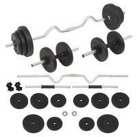 vidaXL Set de haltere și gantere, 30 kg