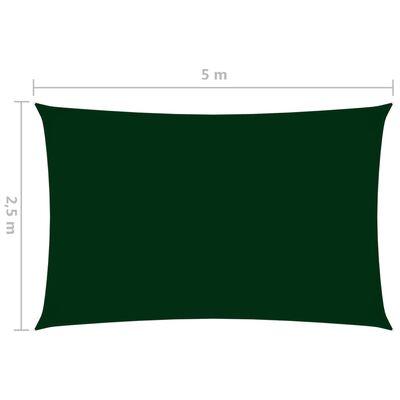 vidaXL Parasolar verde închis 2,5x5 m țesătură oxford dreptunghiular