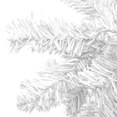 vidaXL Brad de Crăciun artificial L 240 cm, alb