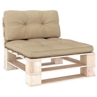 vidaXL Perne pentru canapea din paleți, 2 buc., bej