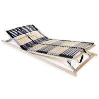 vidaXL Bază de pat cu șipci, 42 șipci, 7 zone, 70 x 200 cm