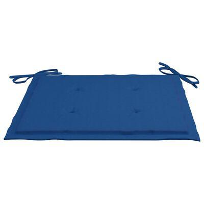vidaXL Perne scaun grădină, 6 buc., albastru regal, 40x40x4 cm, textil