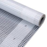vidaXL Prelată Leno 260 g/m², alb, 4 x 8 m