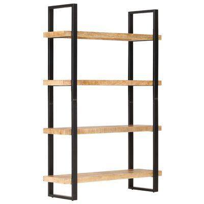 vidaXL Bibliotecă cu 4 rafturi, 120x40x180 cm, lemn de mango nefinisat