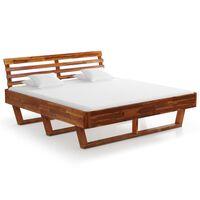 vidaXL Cadru de pat, 180x200 cm, lemn masiv de acacia