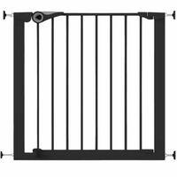 Noma Poartă de siguranță Easy Pressure Fit 75-82 cm negru metal 94313