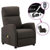 vidaXL Electric Massage Reclining Chair Taupe Fabric (289714+327164)