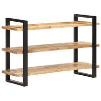 vidaXL Servantă cu 3 rafturi, 120x40x75 cm, lemn de mango nefinisat
