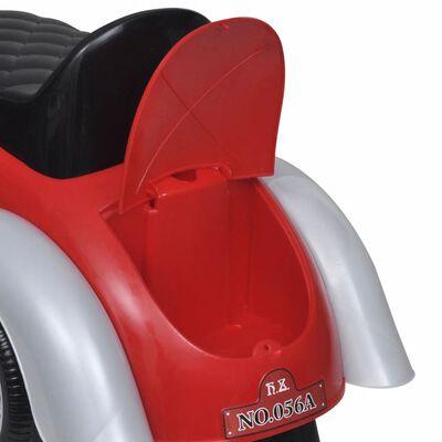Mașină retro de jucărie pentru copii, cu împingere, roșu