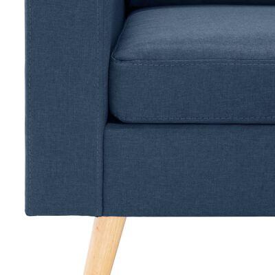 vidaXL Canapea cu 3 locuri, albastru, material textil