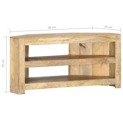 vidaXL Comodă TV colțar, 90 x 45 x 45 cm, lemn masiv de mango