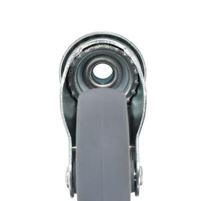 vidaXL Roți pivotante cu gaură pentru șurub, 32 buc., 100 mm