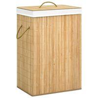 vidaXL Coș de rufe din bambus, 72 L