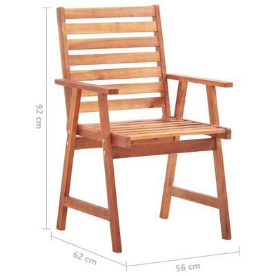 vidaXL Scaune de exterior cu perne, 8 buc., lemn masiv de acacia