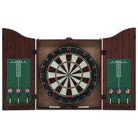 vidaXL Placă de darts profesională din sisal, cu dulap și 6 săgeți