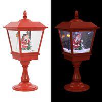 vidaXL Lampă cu moș Crăciun cu piedestal, LED, 64 cm