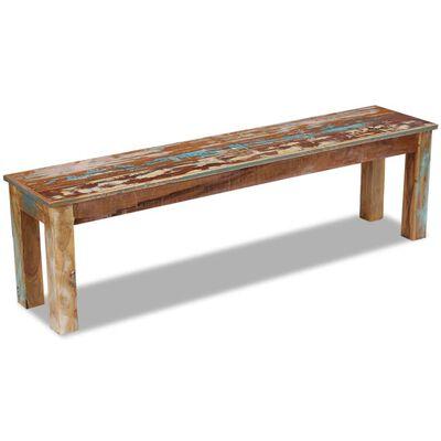 vidaXL Bancă, 160 x 35 x 46 cm, lemn masiv reciclat