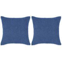 vidaXL Set perne decorative 2 buc. Velur 45 x 45 cm Albastru