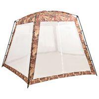 vidaXL Cort de piscină, camuflaj, 500x433x250 cm, material textil
