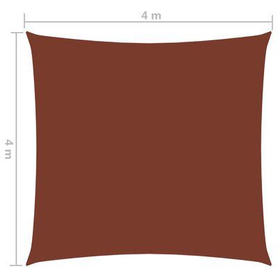 vidaXL Pânză parasolar, cărămiziu, 4x4 m, țesătură oxford, pătrat