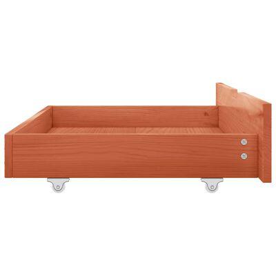 vidaXL Cadru pat cu baldachin, 2 sertare, 140x200 cm, lemn masiv pin