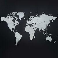 MiMi Innovations Decor perete harta lumii Luxury alb 130x78 cm lemn