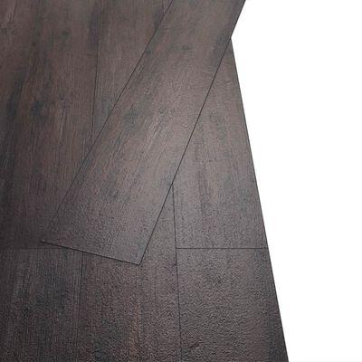 vidaXL Plăci pardoseală autoadezive, maro închis, 5,02 m², 2 mm, PVC