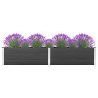 vidaXL Strat înălțat de grădină, gri, 300 x 50 x 54 cm, WPC