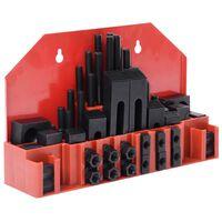 vidaXL Set de fixare, 58 piese, oțel, slot T M12