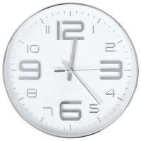 vidaXL Ceas de perete, argintiu, 30 cm