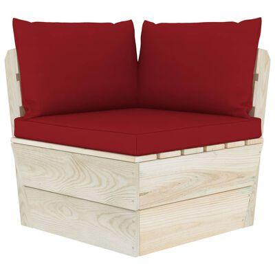 vidaXL Set mobilier grădină din paleți cu perne, 11 piese, lemn molid