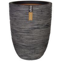 Capi Vas plante Nature Rib elegant, antracit, 36x47 cm, adânc, KOFZ782