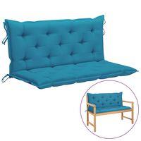 vidaXL Pernă pentru balansoar, albastru, 120 cm, material textil