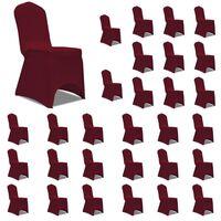 vidaXL Huse elastice pentru scaun, 30 buc., vișiniu