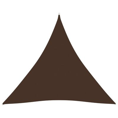 vidaXL Parasolar, maro, 4,5x4,5x4,5 m, țesătură oxford, triunghiular