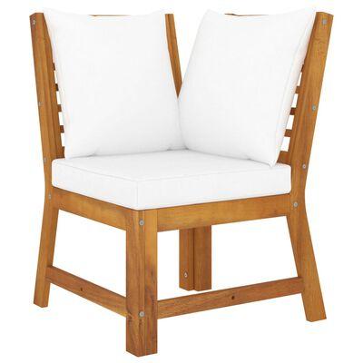 vidaXL Set mobilier de grădină cu perne crem, 5 piese, lemn de acacia