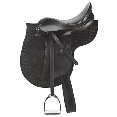 Kerbl Șa din piele pentru ponei, negru, 32196