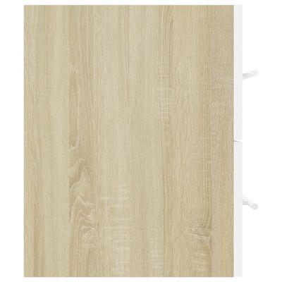 vidaXL Dulap de chiuvetă, alb și stejar Sonoma, 100x38,5x48 cm, PAL