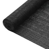 vidaXL Plasă protecție intimitate, negru, 1x50 m, HDPE, 75 g/m²