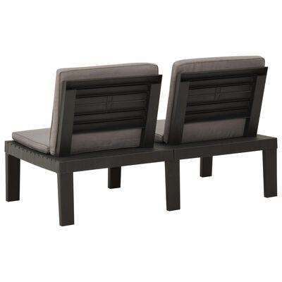vidaXL Set mobilier de grădină cu perne, 4 piese, gri, plastic
