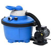 vidaXL Pompă cu filtru nisip albastru/negru 385x620x432 mm 200 W 25 L