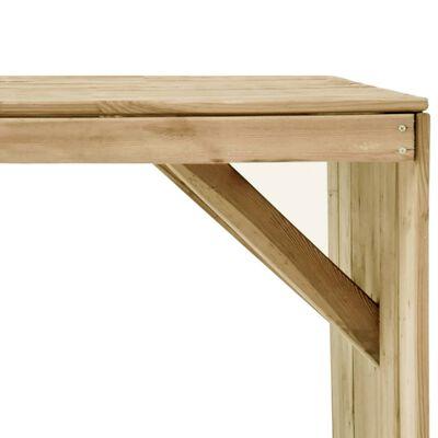 vidaXL Set mobilier de exterior, 5 piese, lemn de pin tratat,