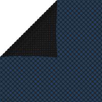 vidaXL Folie solară plutitoare piscină, negru/albastru, 800x500 cm, PE