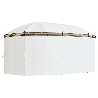 vidaXL Foișor, 530 x 350 x 265 cm, alb crem