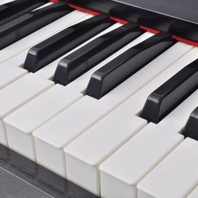 vidaXL Pian digital cu 88 de clape, cu pedale, placă melamină, negru  ,