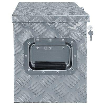 vidaXL Cutie din aluminiu, 76,5 x 26,5 x 33 cm, argintiu